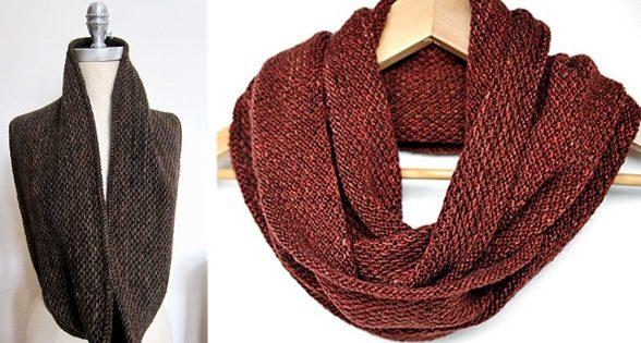 Honey Knitted Slip Stitch Cowl Free Knitting Pattern