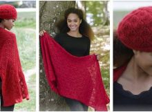 hot coal knitted lace warmers | the knitting space
