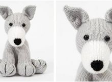 huggable knitted toy greyhound | the knitting space