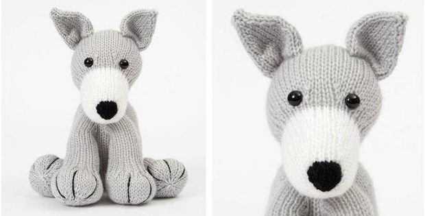 Huggable Knitted Toy Greyhound Free Knitting Pattern