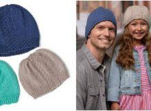huggy knitted herringbone hats | the knitting space