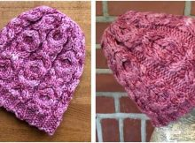 hugs 'n kisses knitted cabled hat | the knitting space