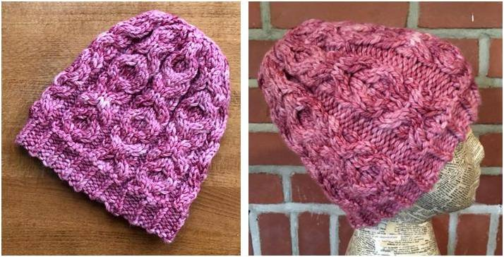 Hugs N Kisses Knitted Cabled Hat Free Knitting Pattern