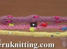 knitted i-cord with beads | the knitting space