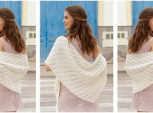 innocent knitted lace shawl | the knitting space