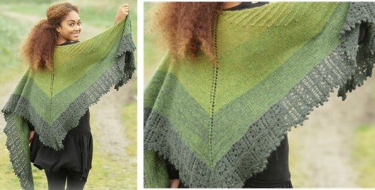 Irish Shades Knitted Shawl Free Knitting Pattern