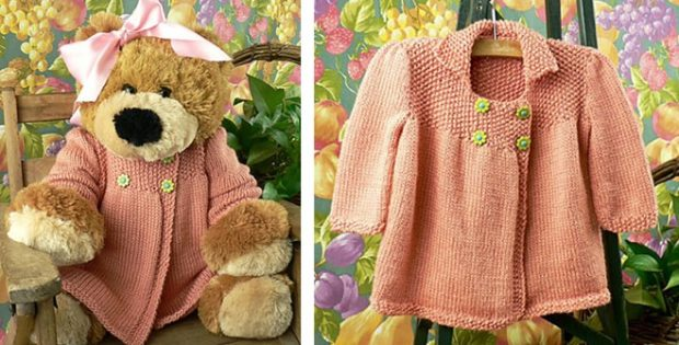 Jardin knitted baby jacket | the knitting space
