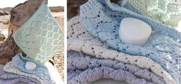 Joy knitted lace washcloths | the knitting space