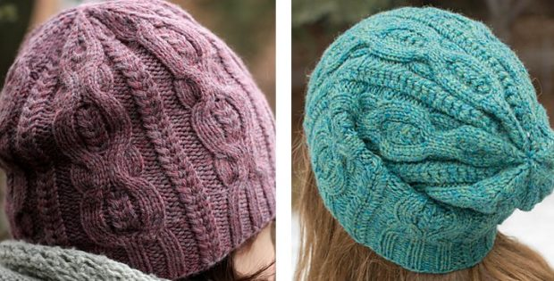 Stylish Pome Knitted Cable Beanie FREE Knitting Pattern