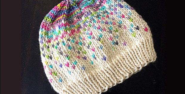 f41de2fb296d Colorful Kaiya Mei Knitted Hat  FREE Knitting Pattern