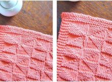 kaleidoscope knitted dishcloth | the knitting space