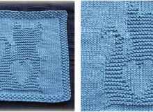 kitty love knitted washcloth | the knitting space