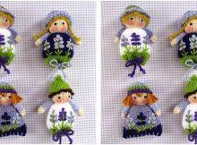 knit lavender sachet dolls | the knitting space