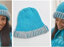 knitted brioche fisherman's rib hat | the knitting space