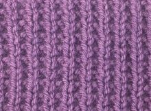 knitted broken rib stitch | the knitting space