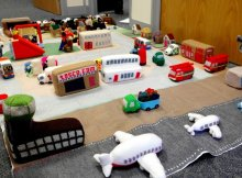 knitter creates entire city | the knitting space