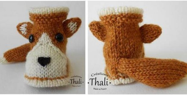 adorable knitted fox shoes | the knitting space