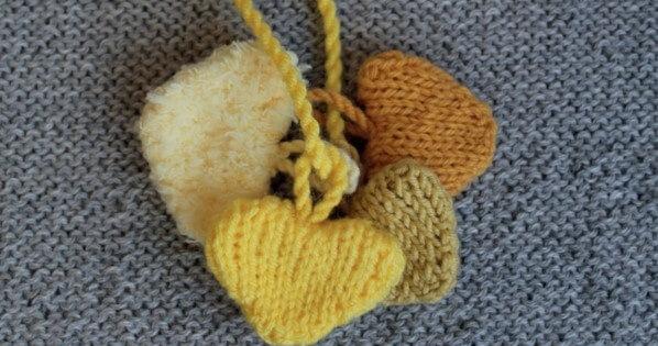 Knitted Hearts Free Knitting Pattern
