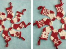knitted mini Christmas stockings | the knitting space
