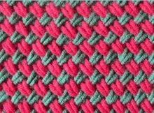 knitted two-color woven plait stitch | the knitting space