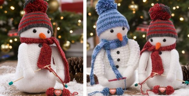Adorable Knitting Snowman FREE Knitting Pattern