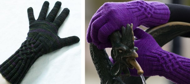 Knotty Knitted Gloves With Cables Free Knitting Pattern