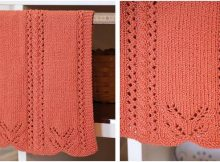 lace edged knitted hand towel | the knitting space