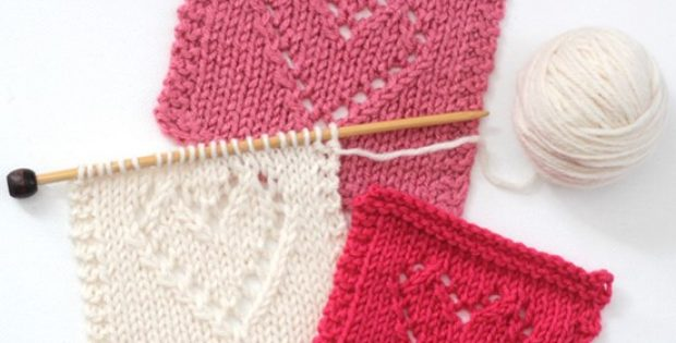 knitted lace heart | the knitting space