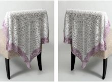 lace sampler knitted baby blanket | the knitting space