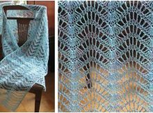 lacy feather 'n fan knitted wrap | the knitting space