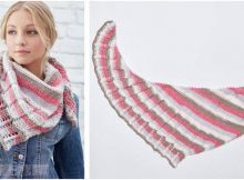 lacy stripes knitted shawl | the knitting space