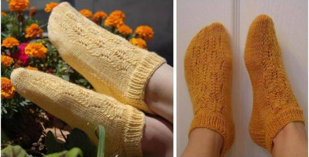 Lacy Summer Knitted Socks [FREE Knitting Pattern] Custom Knitted Socks Pattern Free