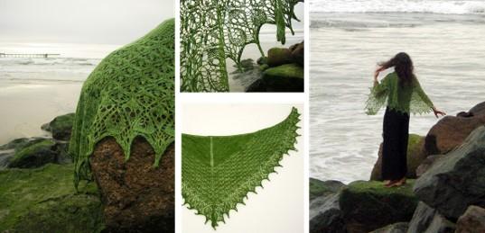 Knitted Laminara Estonian Lace Shawl Free Knitting Pattern
