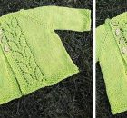 leaf love knitted baby sweater | the knitting space