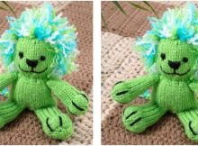 lively Leon knitted toy lion | the knitting space