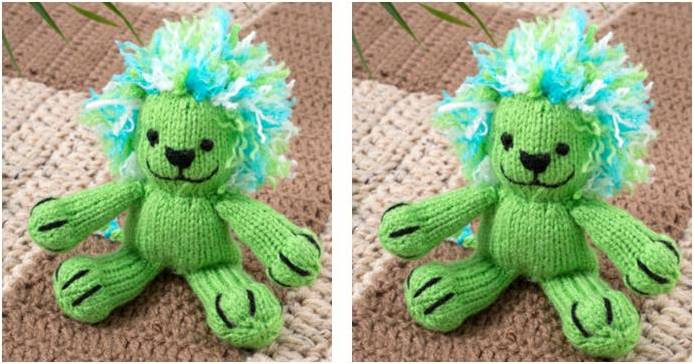 Lively Leon Knitted Toy Lion FREE Knitting Pattern