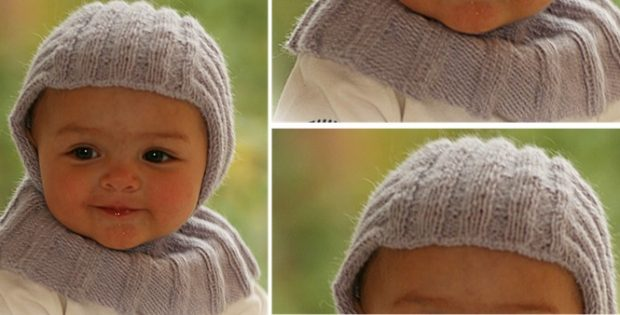Little Knight Knitted Baby Bonnet Free Knitting Pattern