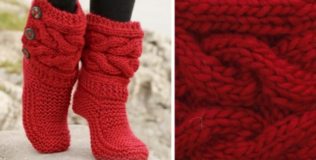 Little Red Riding Knitted Slippers Free Pattern Video Tutorials