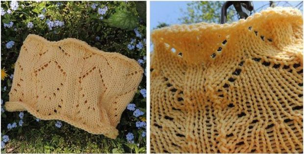 little sunshine knitted lace cowl | the knitting space