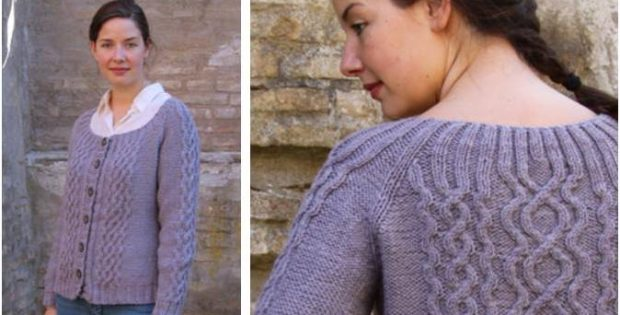 Lovely Alva Knitted Cable Cardigan Free Knitting Pattern