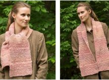 lovely drop stitch knitted scarf | the knitting space