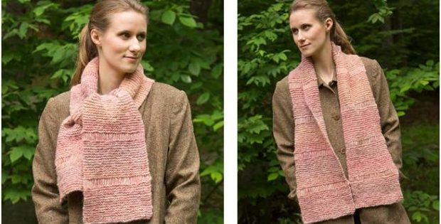 Lovely Drop Stitch Knitted Scarf Free Knitting Pattern