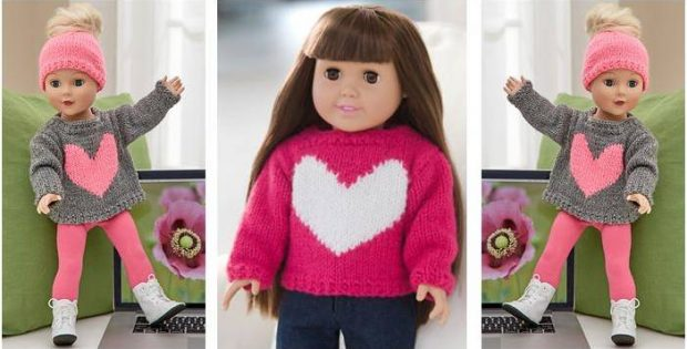 Lovely Knitted Doll Sweater Free Pattern Video Tutorial