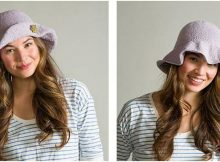 stylishly adorable knitted floppy hat | the knitting space