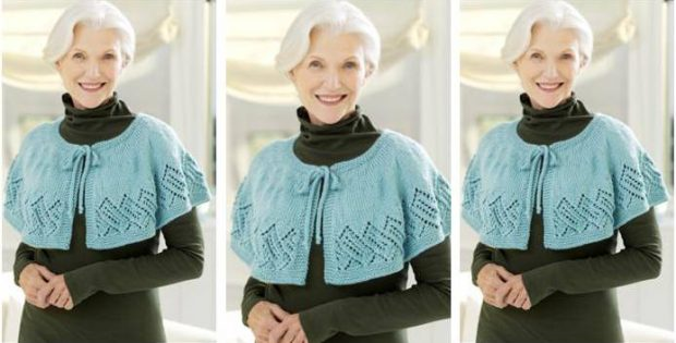Lovely Knitted Lace Capelet Free Knitting Pattern