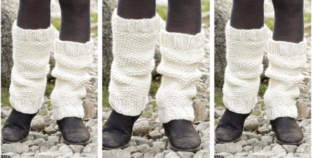 Lovely Lamb Knitted Leg Warmers Free Knitting Pattern