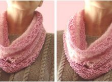 lovely mist knitted lace cowl | the knitting space