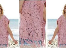 lovely rose smile knitted poncho | the knitting space