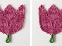 lovely tulip knitted dishcloth | the knitting space