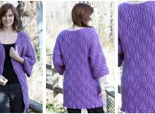 luscious leaves knitted coat | the knitting space